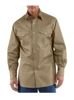Carhartt® Snap-Front Twill Work Shirt
