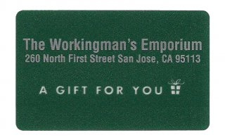 Workingman's Gift Card