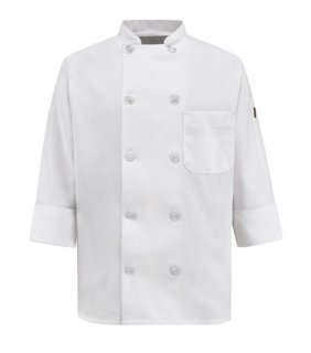 Chef Designs Women's Ten Pearl Button Chef Coat