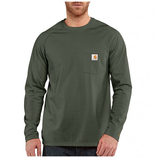 Carhartt® Force™ Delmont Cotton Long Sleeve T-Shirt - Click Image to Close
