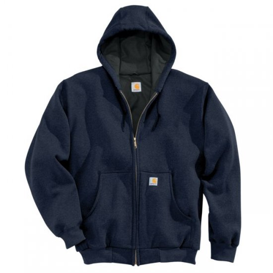 Carhartt® Thermal-Lined Hooded Zip-Front Sweatshirt - Click Image to Close
