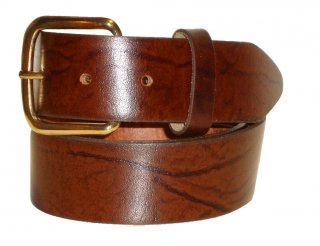 "PM Belts USA 1.5"" Oil Tan Solid Leather Belt"