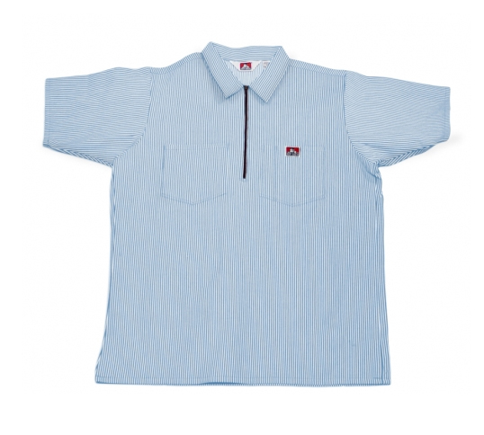 600cc7934ab Ben Davis® Short Sleeve Stripe ½ Zip Shirt    -  30.99   Workingmans ...