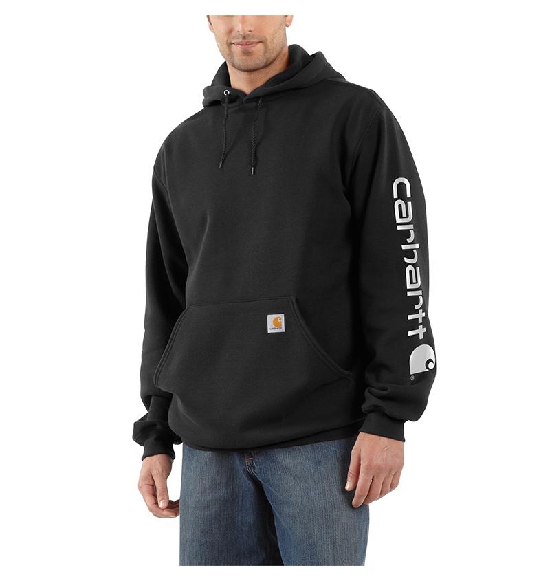 2fc1625512f Carhartt® Midweight Hooded Logo Sweatshirt [K288] - $44.99 ...