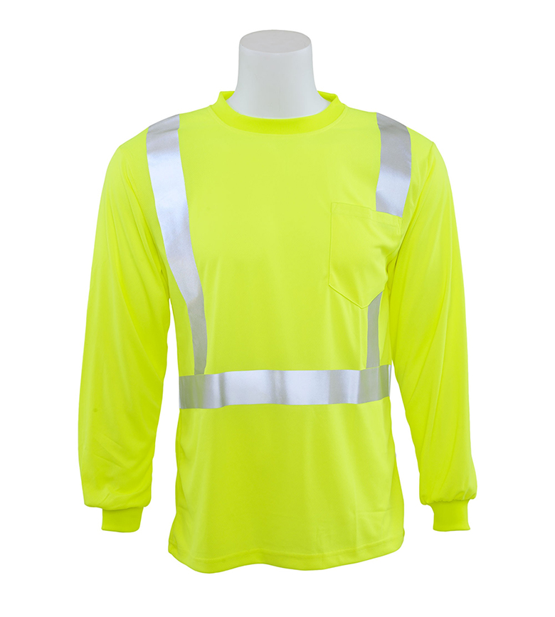 ERB 9007S CLS 2 Birdseye Mesh Long Sleeve Safety Shirt - Click Image to Close